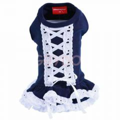 Hundekleid DoggyDolly Korsett blau