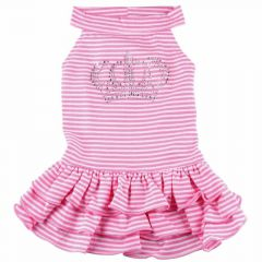Royal Hundekleid Pink Crown - Hundebekleidung