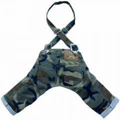 Green Camouflage Jeans - Hundehose