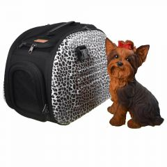 Safari Hundetasche mit Leopardenfell Optik
