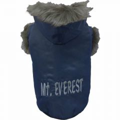 warme Hundejacke von DoggyDolly W026 - blauer Hundeanorak Mount Everest