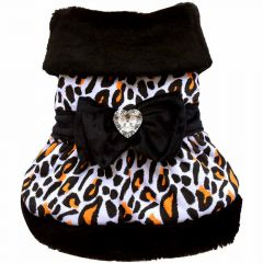 Luxus Hundekleid Schneeleopard - DoggyDolly W054