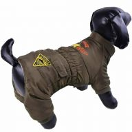 Warme Hundebekleidung - Air Force grün