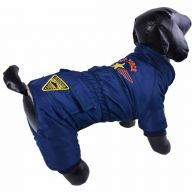 Warme Hundebekleidung - Air Force blau