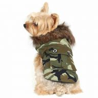Warmer Hundemantel Camouflage von DoggyDolly W061