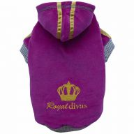 lila Hundepullover Royal Divas von DoggyDolly