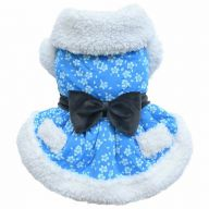blaues Hundekleid für den Winter Luxushundekleid von DoggyDolly W288