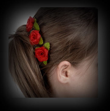 Fabric roses hair decoration - flower hair decoration
